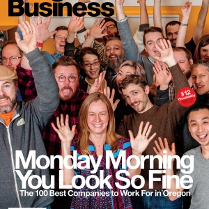 Picture of lots of happy workers for 100 Best Companies to Work for cover
