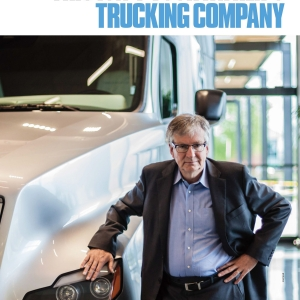 Oregon Business Cover June 2016 stands with big rig