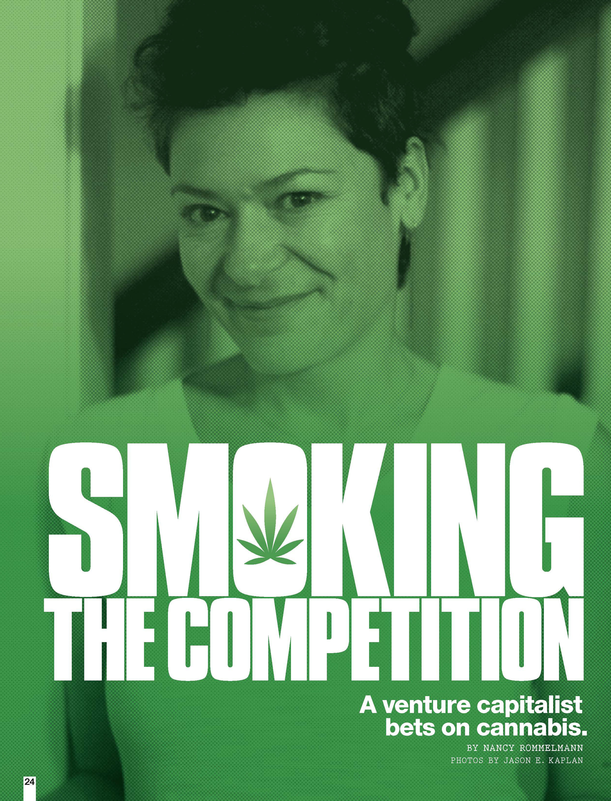 Sara Batterby photograph for cannabis article.