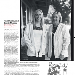 Ann and Laurie Murray Rural Oregon Pharmacists outdoor portrait