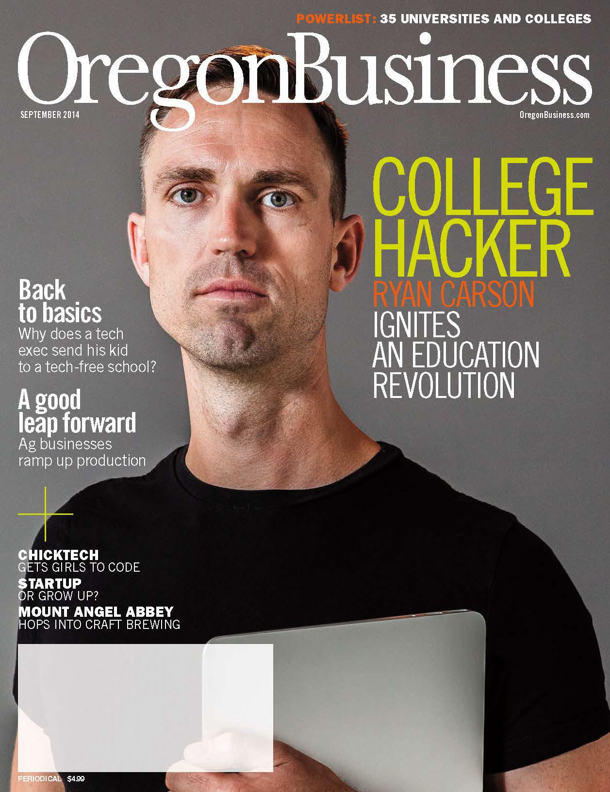 Oregon Business Cover September 2014
