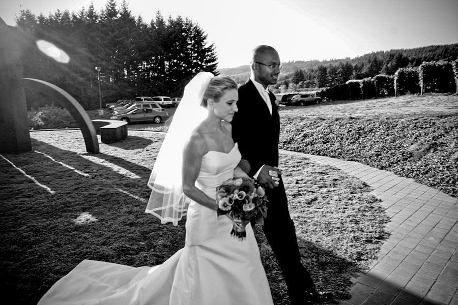 bridal couple wedding procession portland oregon