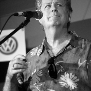 Brian Wilson at the mike in Portland Oregon at KINK.fm radio station.