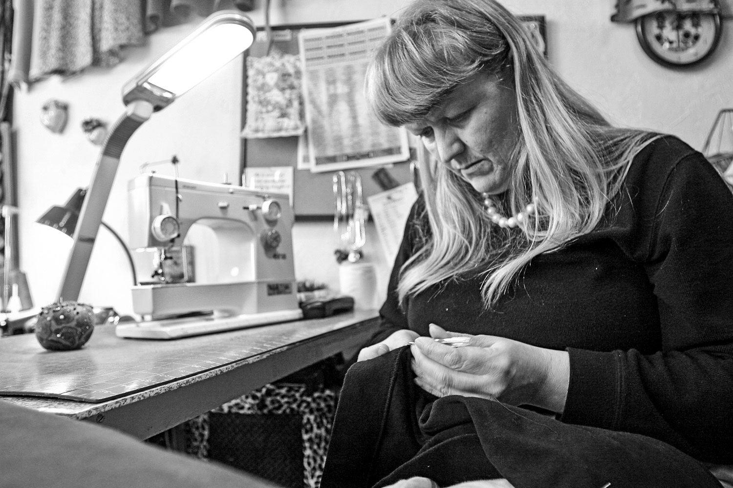Kitch and Stitch owner at work in portland oregon