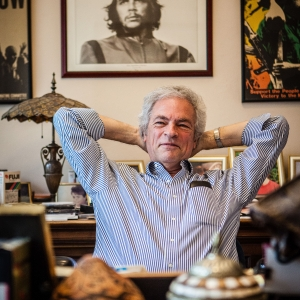 Greg Kafory Portland Trial Lawyer relaxes at his work desk
